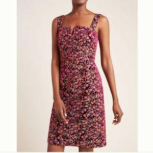 Jaz Embroidered Velvet Mini Dress